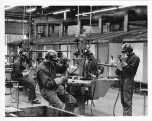 Welding shop 1970s